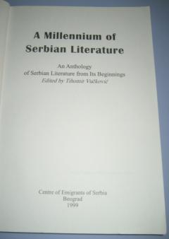 A Millennium of Serbian Literature