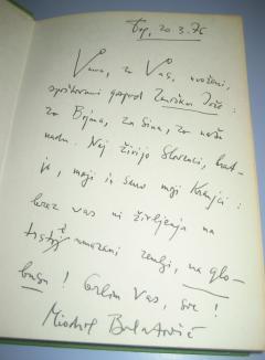 LJUDI SA ČETIRI PRSTA Miodrag Bulatović + potpis
