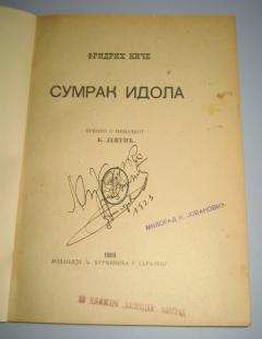 SUMRAK IDOLA , Fridrih Niče 1919