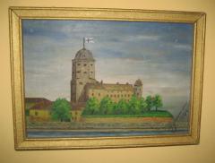 Antikvarna slika ulje na dasci iz 1944