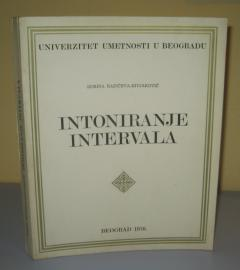 INTONIRANJE INTERVALA , Dorina Radičeva Divjaković