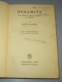 Potpis autograf Adam Pribićević na knjizi DYNAMITE