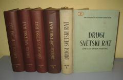 DRUGI SVETSKI RAT pregled ratnih operacija komplet 5 knjiga