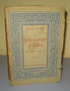 La letteratura d italia , Augusto Vicinelli