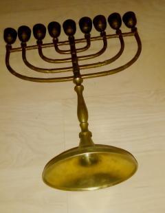 HANUKIJA masivni mesingani jevrejski svećnjak