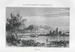 Beogradska tvrđava originalna gravira oko 1850. god.