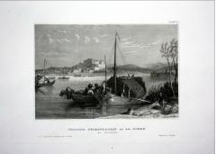 Tvrđava Petorvaradin na Dunavu gravira iz 1840. god.