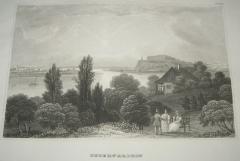 Tvrđava Petorvaradin originalna gravira iz 1840 god.