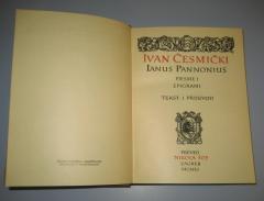 STIHOVI I EPIGRAMI Ivan Česmički ( Ianus Pannonius )