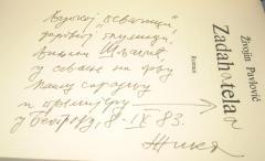 ZADAH TELA , Živojin Pavlović + potpis autora
