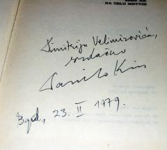 NA ČELU MRTVIH , Endre Adi + potpis Danilo Kiš