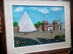 Piramide Cestia Roma 1977 Ferrari italijanska slika