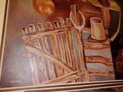 Diptih dve velike slike ulje na platnu Petar Anđelković