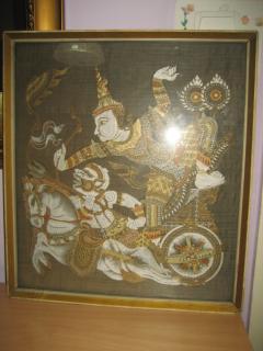 Indijska slika motiv iz RAMAJANE velika , uramljena