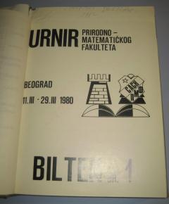 ŠAHOVSKI TURNIRSKI BILTENI komplet ukoričenih biltena 1980 god